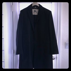 Burberry size 54R Black Wool Long Coat